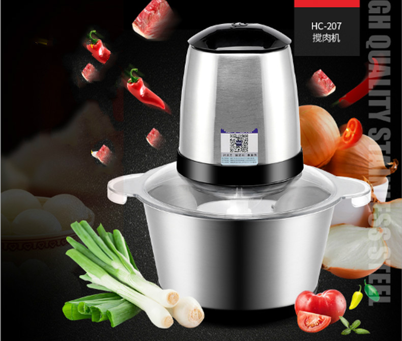 купить Meat Grinders Stainless steel meat grinder, electric mixer, ginger, garlic, chili powder, grinder NEW по цене 6663.76 рублей