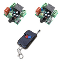 AC 220V 1 Channel RF Remote Control Switch Wireless Controller Plug Teleswitch 1CH 10A Relay 2 Receivers + Transmitter