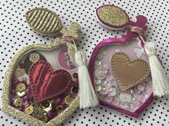 KSCRAFT Parfüm Şişesi Shaker Kart Metal Kesme Ölür için DIY Scrapbooking/Kart Yapımı/Çocuklar Eğlenceli Dekorasyon Malzemeleri