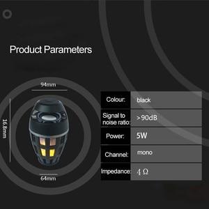 Image 4 - 2In1 flamme atmosphère lampe lumière Bluetooth haut parleur Portable sans fil haut parleur stéréo avec ampoule de musique en plein air Camping Woofer