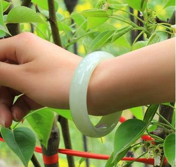 Xinjiang Hetian Jade Bracelet Natural genuine sheep fat jade pale jade bracelet Children's section with Certificate Girl Jade Br