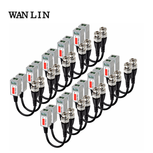 20pcs AHD/CVI/TVI Twisted BNC CCTV Video Balun passive Transceivers 10pairs Cat5 CCTV UTP Video Balun up to 3000ft Range(China)