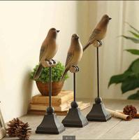 1PC Resin Bird Figurine Ornaments American Country Style Creative Artificial Les Oiseaux Decorative Home Decor Wedding