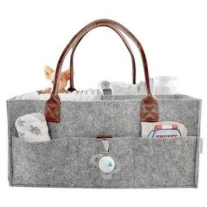 Image 2 - Новинка органайзер для детских подгузников с ручкой, портативная корзина для хранения подгузников, автомобильные сумки для детского душа, подарочная корзина