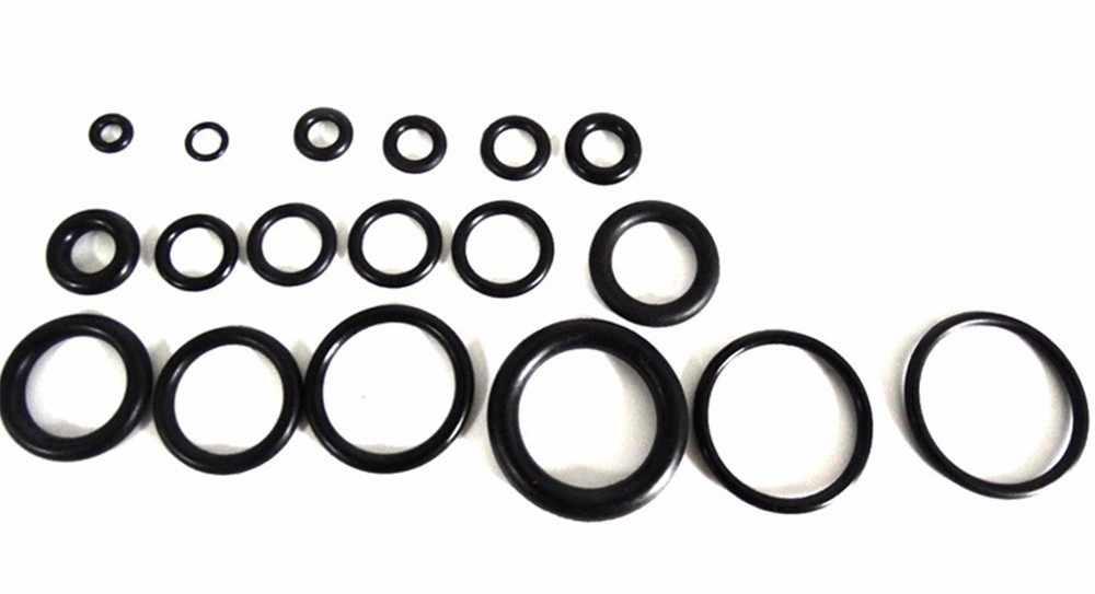 18 גדלים 225Pcs חדש כלי פלסטיק מטרי O טבעת O-טבעת מכונת כביסה חותמות מבחר שחור לרכב אוטומטי רכב תיקון