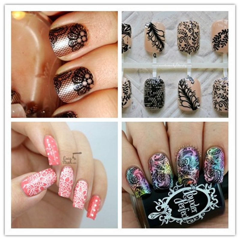 12 Design Choice Crown Floral Butterfly Pattern Nail Art Stamping ...