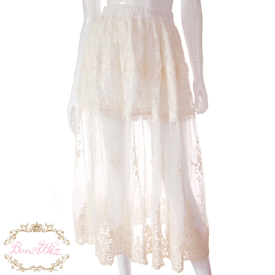 Conception Style Jupe Fil Originale White Stade Fée Lolita Dentelle De Sweet B1201 Blanc Longue Bobon21 Princesse Catwalk xqXHfTT