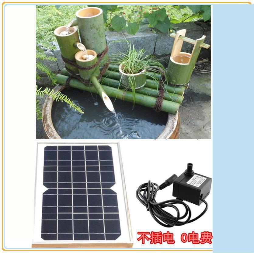 bomba de agua solar externa bomba de agua solar de filtro para piscina tubo de bambu