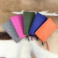 High quality luxury genuine ostrich skin coin wallet purse mini coin bag key cases small wallet purse