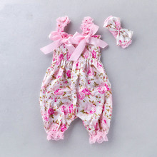 2019 Summer Baby Clothing For Newborn Jumpsuit Vintage Clothes Romper Toddler Girl Flower Cute Sweet Cloth