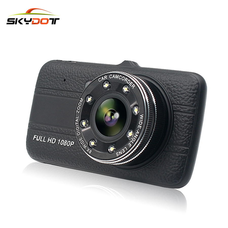 SKydot 4.0 Car DVR Dual Lens Dash Cam With Front And Rear Camera 170 Degree Full HD 1080P Auto Video Recorder Night Vision DVRS