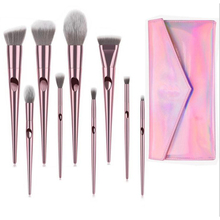 Bella Cullen 10pcs make up brushes set for face eyeshadow highlighter maquiagem eyebrow lip brush beauty tool with cosmetics bag
