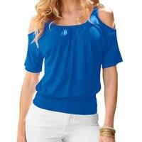6 Colors T Shirt Women Off Shoulder O-Neck T-shirt Summer Tops Tee Shirt Femme Casual Tshirt Woman Clothes