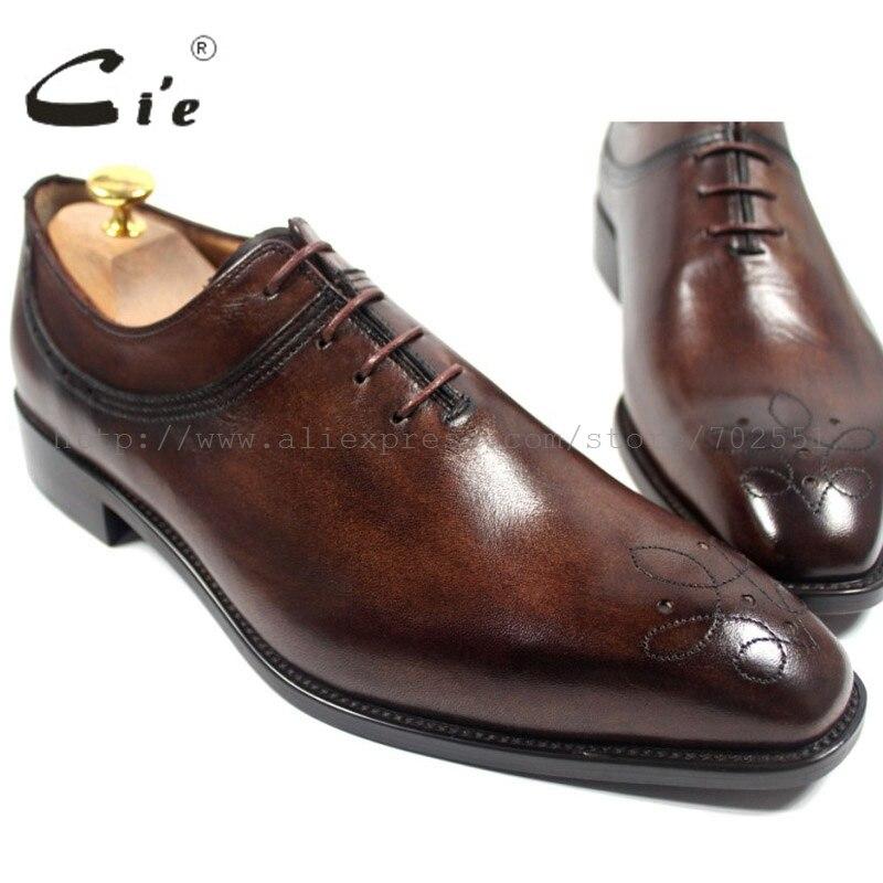 CIE с квадратным носком ручной работы натуральной телячьей кожи Верхняя внутренняя подошва мужская Туфли в британском стиле цвет коричневый...