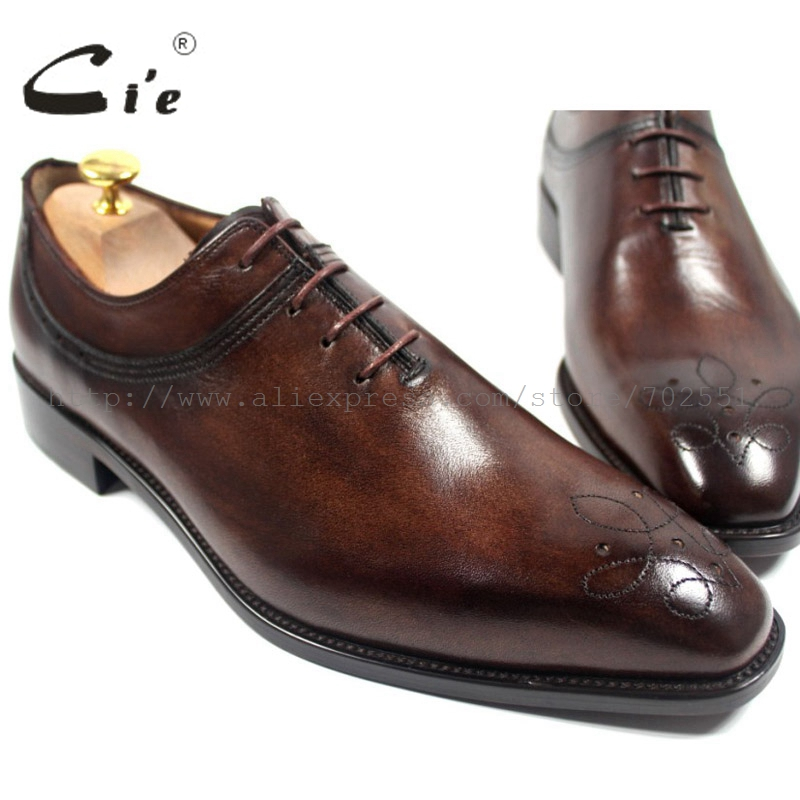 cie square toe custom handmade genuine calf leather upper inner outsole men's oxford shoe color brown No.OX180 adhesive craft good quality goodyear handmade genuine leather upper outsole insole black color cement craft brogues square toe shoe no ox643
