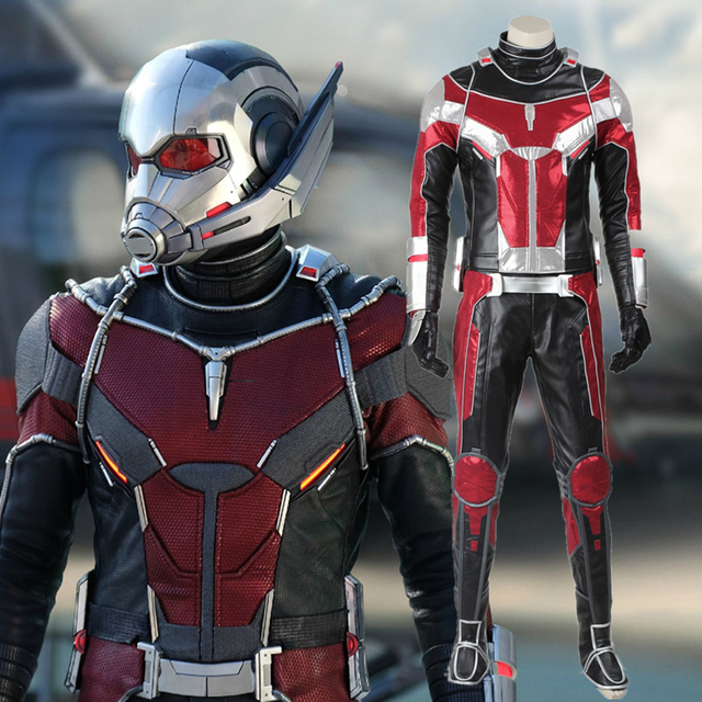 Captain America Ant Man Costume Scott Lang Cosplay Suit