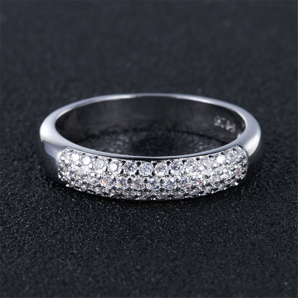 Jewelry & Access. ...  ... 32377773435 ... 3 ... DODO Luxury Full AAA Zircon Rings For Women Silver Color Band Rings Jewelry Promise Wedding Anel Statement Anillos Wholesale ...