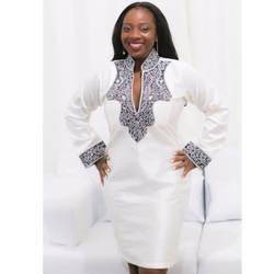 Африканская одежда для женщин платье традиционные Специальное предложение Лидер продаж Для женщин 2019 Национальный стиль ветер печати V
