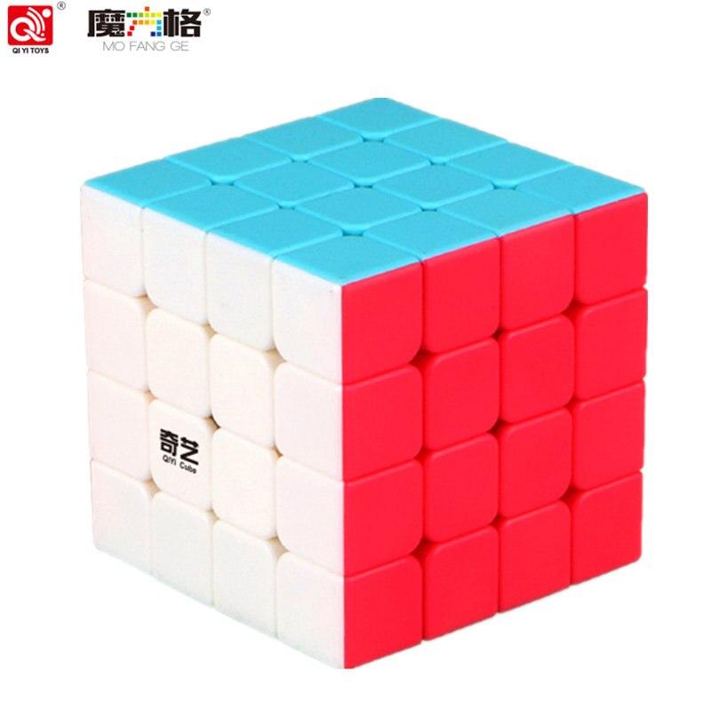 QIYI cubo 4 por 4 cubo mágico size62 * 62*62mm 6 colores velocidad del rompecabezas para los niños juguete de regalo 4x4 cubo