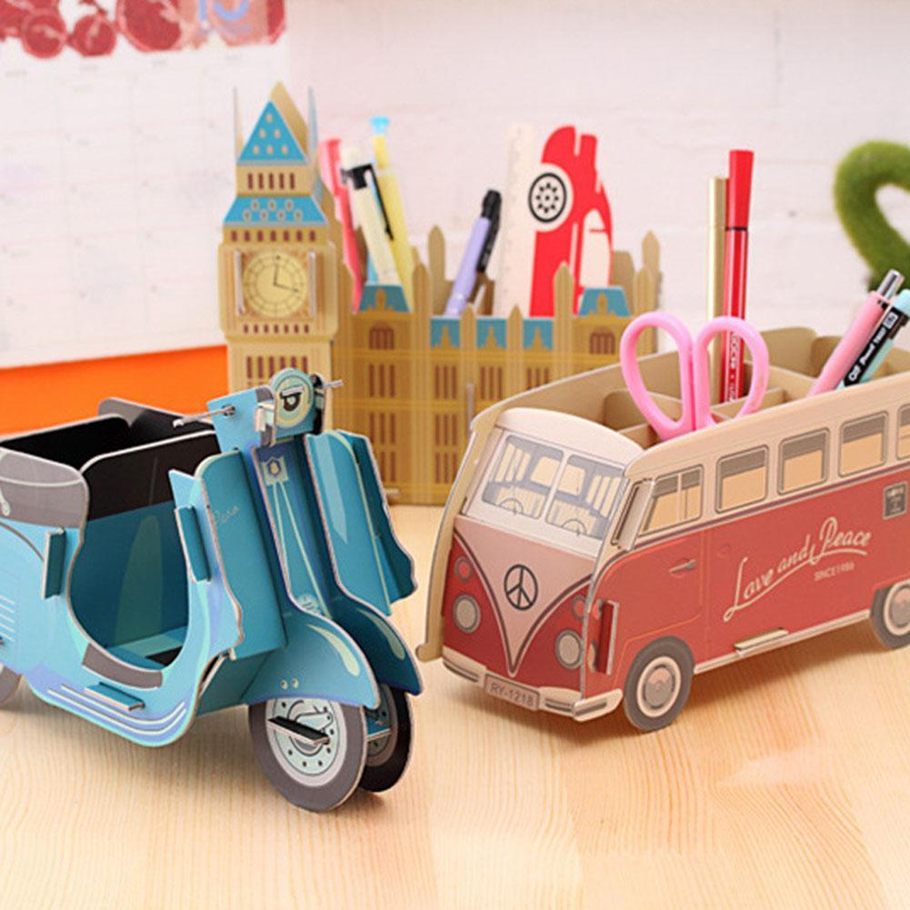 Diy Toy Car Bus Foldable Make Up Storage Box Container Bag Makeup