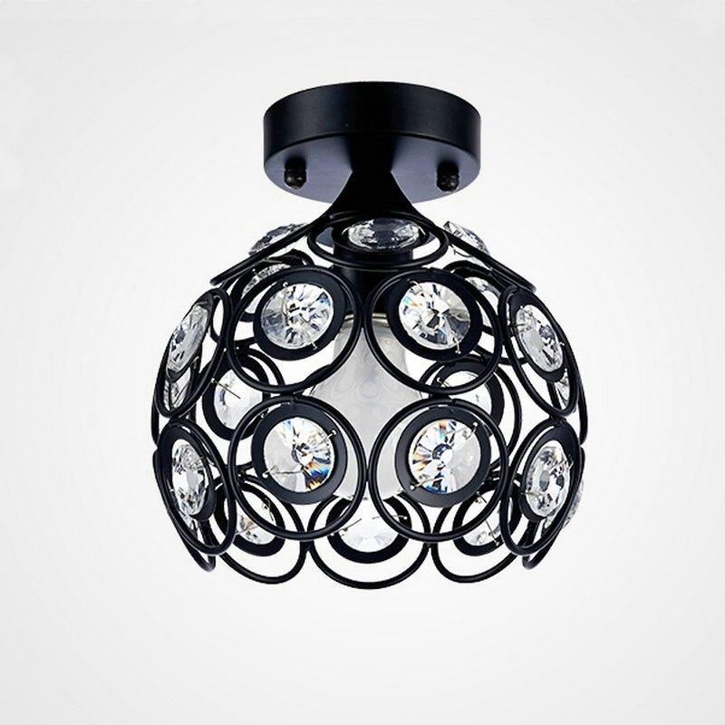 HTB1JyphcUF7MKJjSZFLq6AMBVXaM Modern Flush Mount Home Gold Black LED K9 Crystal Ceiling Chandelier Lights Fixture for Living Room Bedroom Kitchen Lamps