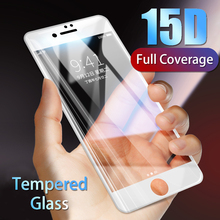 15D Protective Tempered Glass On For iPhone 7 6 8 6s Plus Curved Screen Protector For iPhone x xr xs max Full Cover Glass Film
