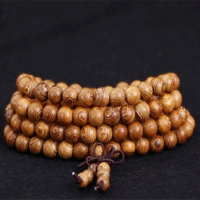 Sennier Wenge Prayer Beads Bracelets For Men Tibetan Buddhist Mala Buddha Bracelet 108 Rosary Wooden Bangle Women Jewelry