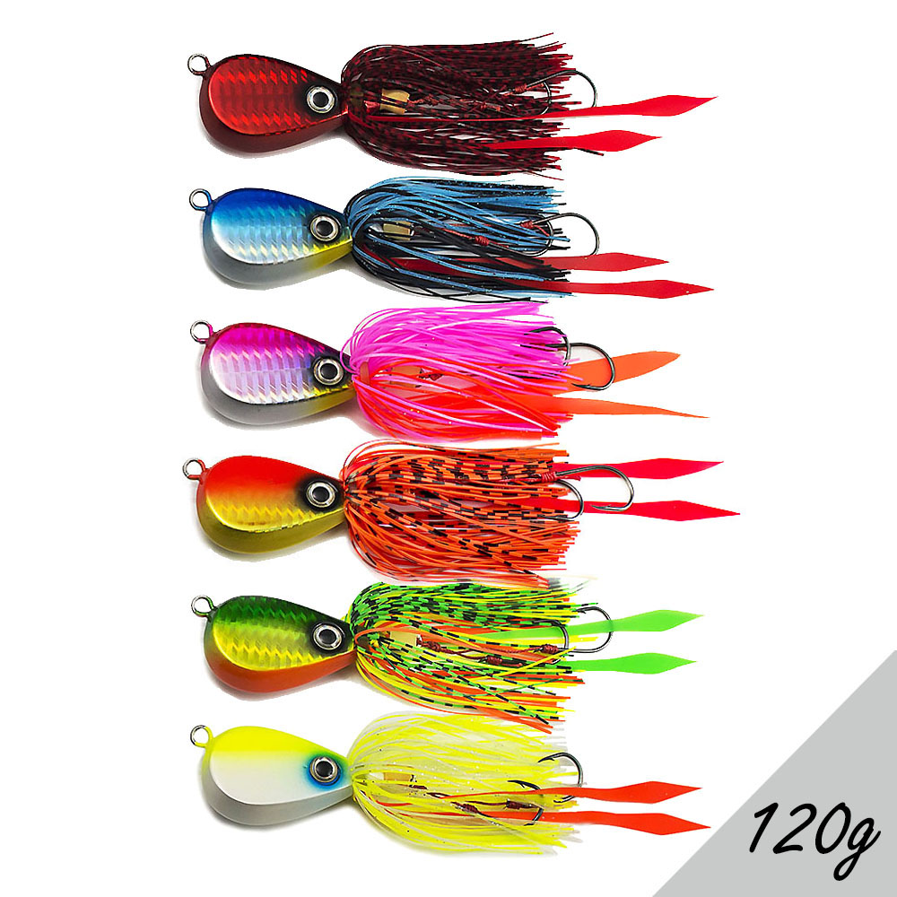 Countbass 6PCS 120g 4 23oz Salty Rubber Jig Fishing Lures Crazy Bottom Squid Snapper Jigging Japanese