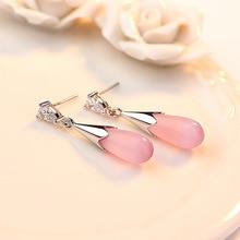 Moonlight Opal Water Droplets Sterling Silver Earrings