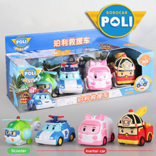 4pcs המקורי ילד poli Robocar קוריאה Poli אינרציה ילדים רכב שינוי אנימה פעולה איור צעצועים לילדים פליימוביל