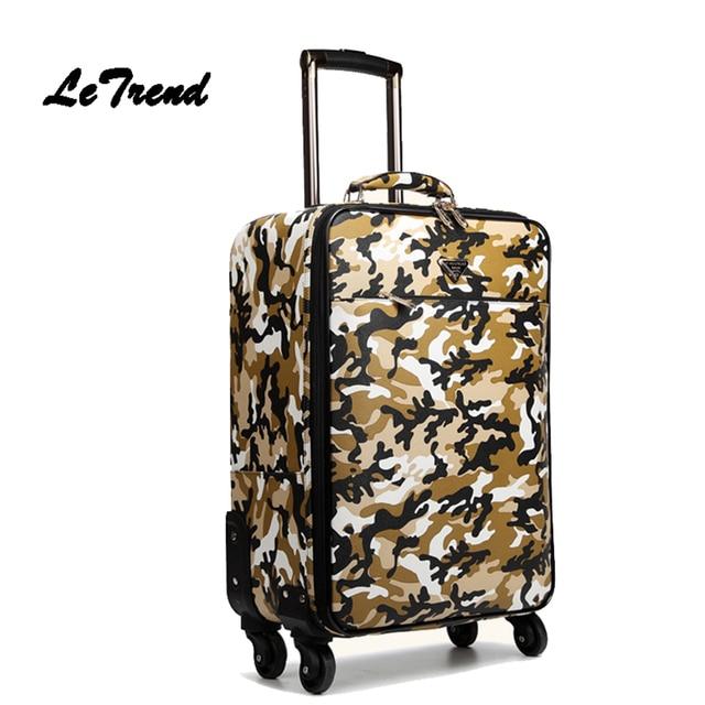 Aliexpress.com : Buy LeTrend Camouflage Business Men Suitcase ...