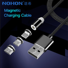 NOHON LED Magnetic Charge Cable Lighting Micro USB Type C Phone For iPhone X 7 8 6 Xiaomi 4 Magnet Fast Charger 1M