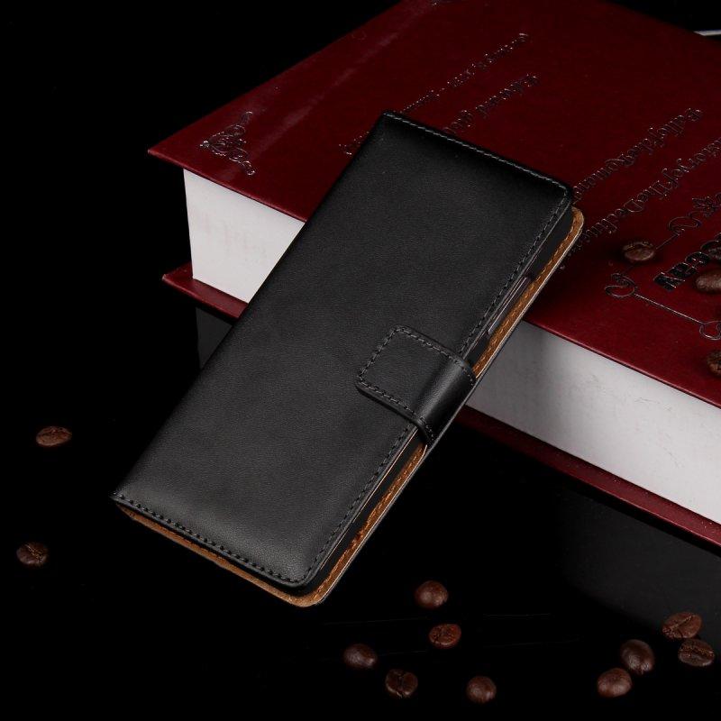 Para htc one m7 caso de la cubierta de la carpeta del tirón del libro de cuero s