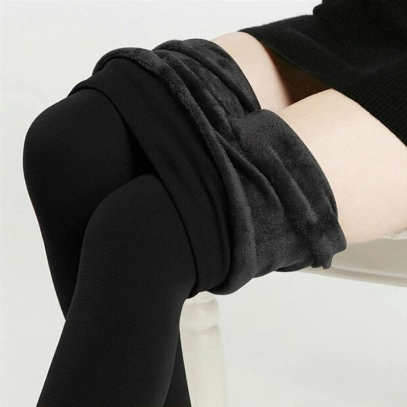 Free Shipping Women Leggings Inside Thicken Fur Warm Leggings Womens Winter Fleece Legging Pants Female Velvet Leggins 16-10