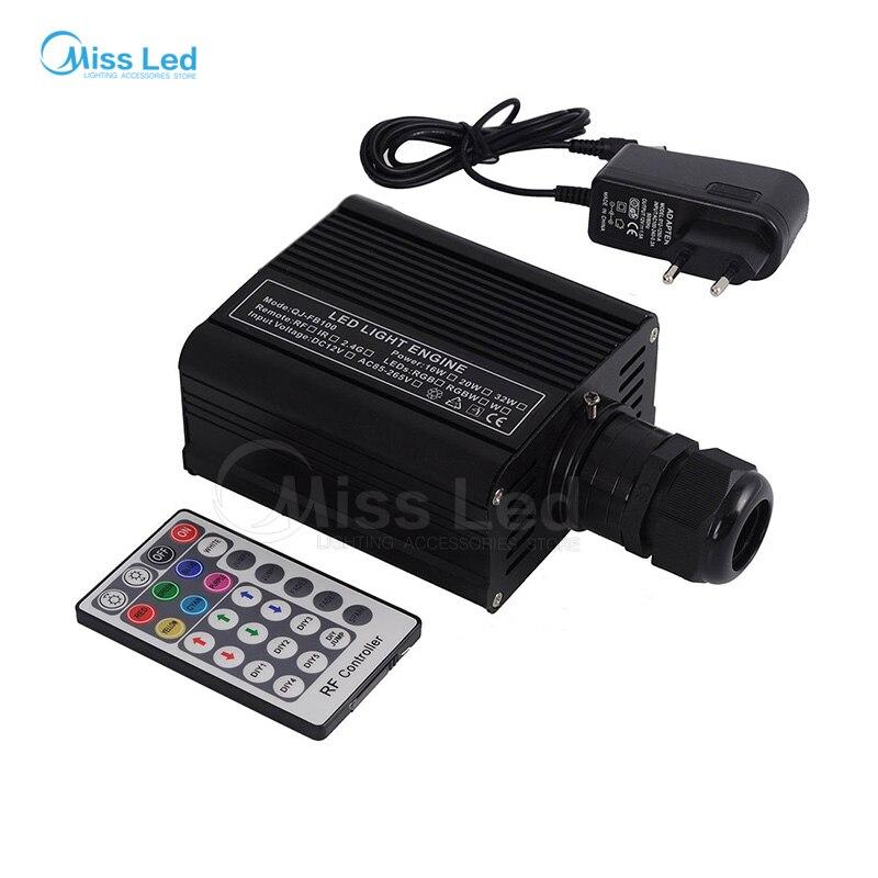 Livraison gratuite RGBW 16 W LED pilote de moteur à Fiber optique avec 28key RF télécommande pour toutes sortes de fibres optiques