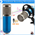 BM-800 HighQuality Профессиональный Конденсаторный Студия Звукозаписи Проводной Синий Микрофон С Подвесом Для Радио Braodcasting