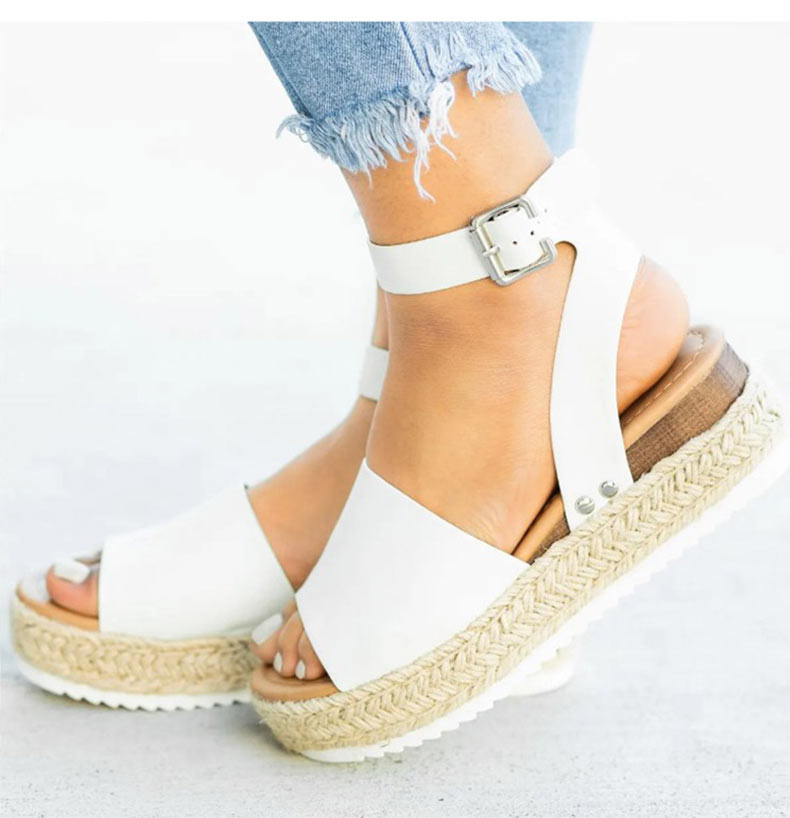 Women High Heels Sandals Summer Shoes Flip Flop Chaussures Femme Platform Sandals 19