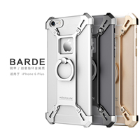 NILLKIN Barde Metal Case With Ring Holder For IPhone 6 Plus 6S Plus Back Cover For