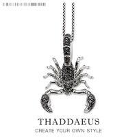 Scorpion Gliederkette Halskette, 925 Sterling Silber Ts Modeschmuck Thomas Stil Rebel Kreuz Bijoux Geschenk Für Männer & frauen Freund