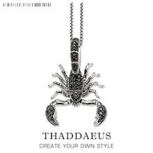 Scorpion Ketting, 925 Sterling Zilveren Sieraden Europa Stijl Rebel Kruis Bijoux Gift Voor Mannen & Vrouwen Vriendchain necklacefashion necklacenecklace fashion