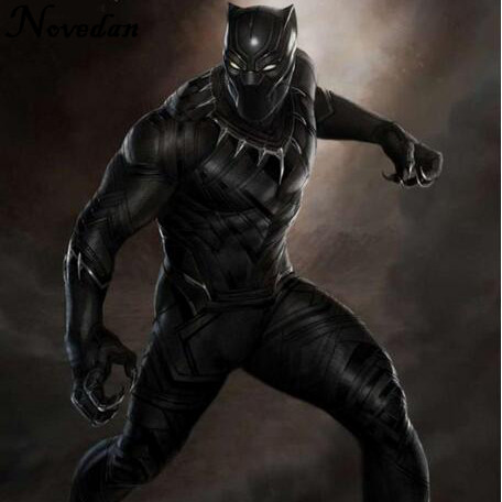 New 2018 Black Panther Costume Marvel Movie Captain America Cosplay Clothing Suit Party Halloween Costumes For Men Kids