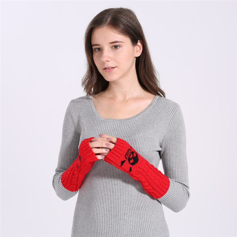 Mittens Womens Free Knitting Woman Winter Warm Knitted Long Twist Plus Thick Half Finger Gloves Mittens 30SP30