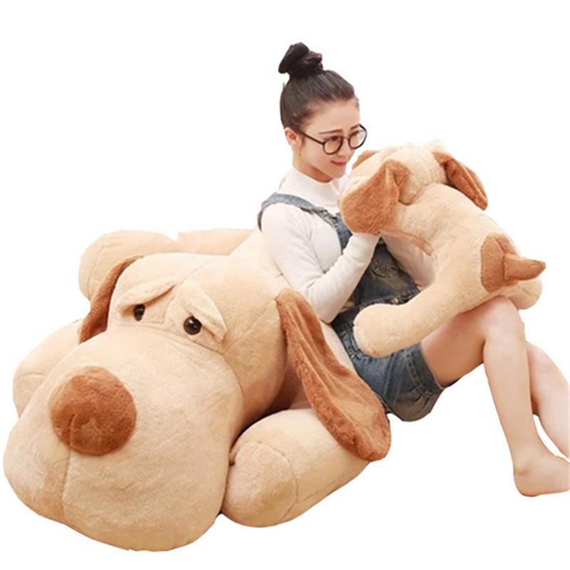 Fancytrader Big Plush Dog Lying Toy Large Size Stuffed Animal Pillow Doll 150cm 59inches stuffed animal 120cm brown lying sleeping dog plush toy soft throw pillow w2302