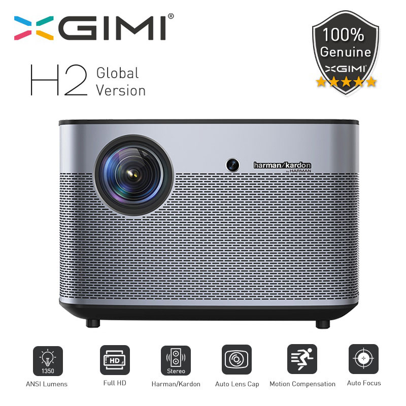 XGIMI H2 Proiettore 1080 p 1350 Ansi Full HD 3D 4 k Proiettore 2 gb/16 gb Android Bluetooth airplay Proyector Home Theater