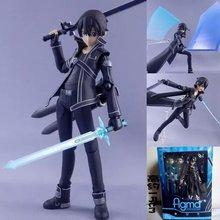 Бесплатная доставка 15 см аниме меч искусство интернет kirigaya kazuto Figma 174 пвх фигурку коллекционная модель игрушки