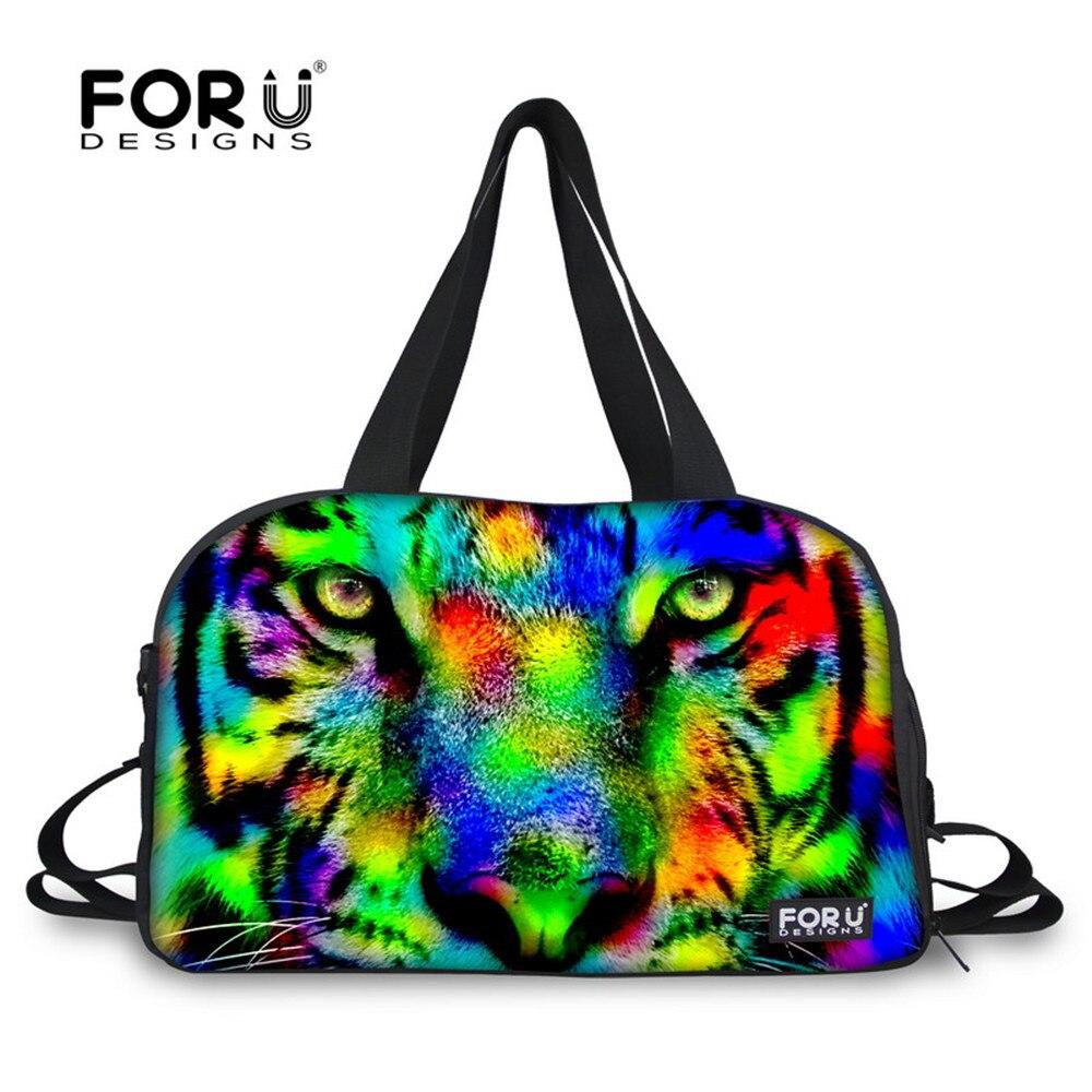 Travel Luggage Duffle Bag Lightweight Portable Handbag Cool Lion Animal Large Capacity Waterproof Foldable Storage Tote
