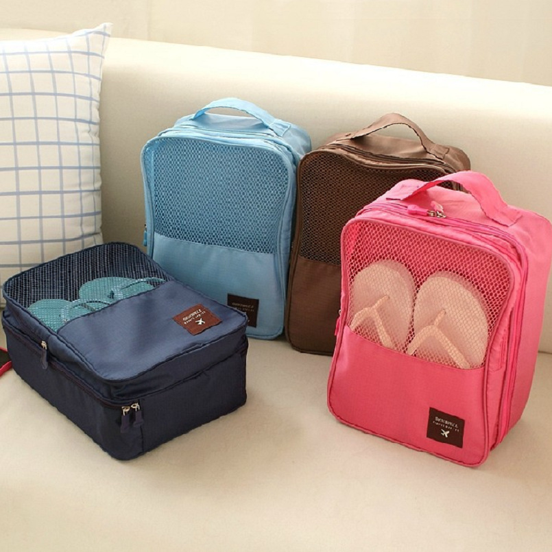 Solid Waterproof Nylon Holiday Travel Shoes organizador Box Storage Bag  Packing Organizers Drawer Closet Dividers Container - Game Storage Ottoman Promotion-Shop For Promotional Game Storage