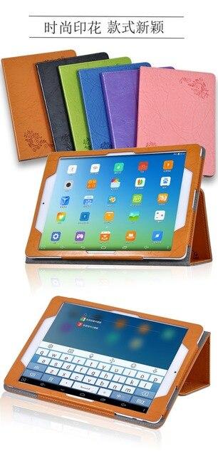 Lüks Baskı Kat Standı PU Deri Manyetik Kapatma Durumda Koruyucu Kapak Küp i6/i6 Hava 3G çift Önyükleme 9.7 Inç Tablet