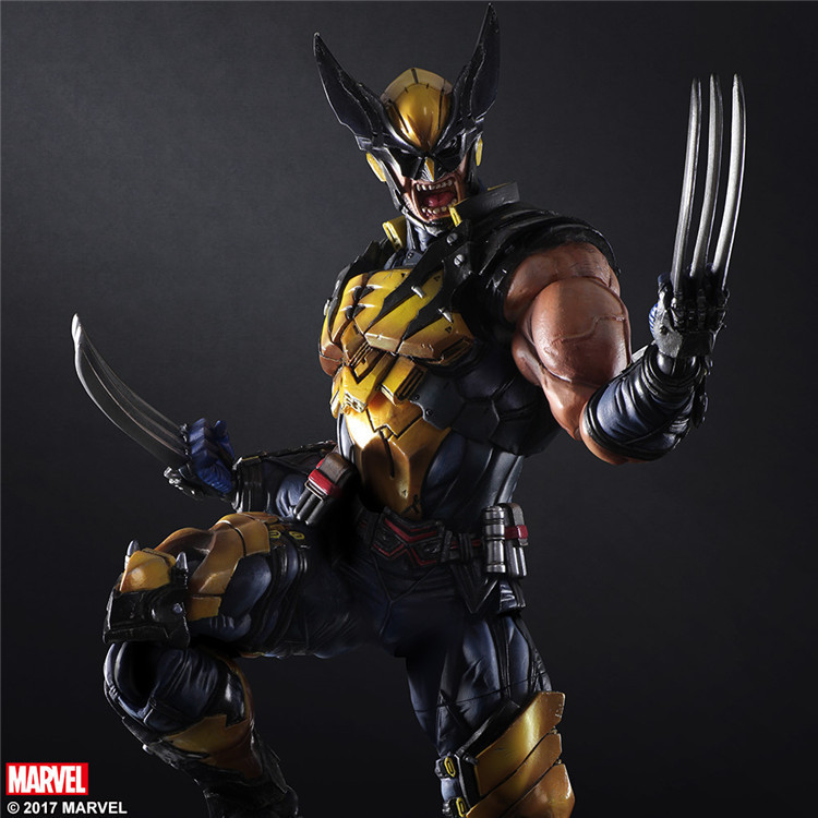 Wolverine 27cm Play Arts Kai Wade Winston Wilson X-men Anime Action Toy Figures Pvc Model Collection Kids Lover Children Gift deadpool figure wolverine x men x men play arts kai deadpool wade winston 26cm