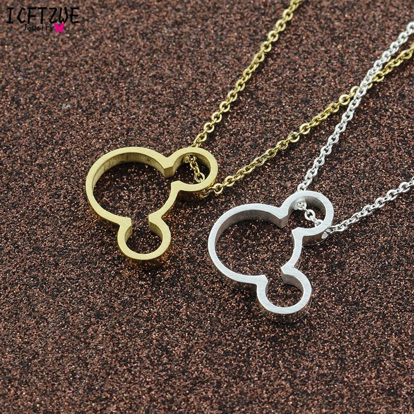 Ketting Vrouwen Maus Halskette Frauen Gold Farbkette Bijoux Femme - Modeschmuck - Foto 4